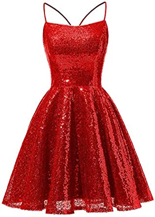 Vivian's bridal 2019 Glitter Sequins Homecoming Dress
