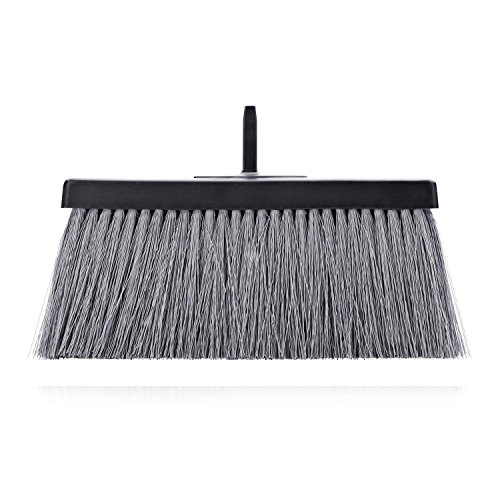 Fuller Brush Black Deep Reach Slender Broom Head - Commercial Wet & Dry Floor Sweeper w/ Hook Hanger For Sweeping Dust & Cleaning Carpet, Wood Laminate, Vinyl & Hardwood Floors