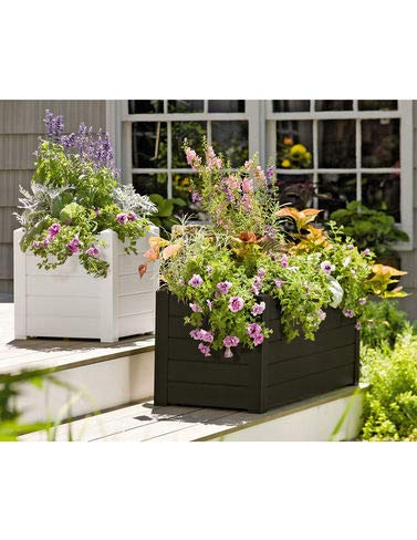 Terrazza Trough Planter Black
