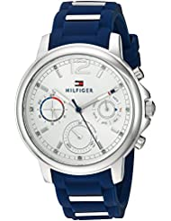 Tommy Hilfiger Womens CLAUDIA Quartz Stainless Steel and Rubber Casual Watch, Color:Blue (Model: 1781746)