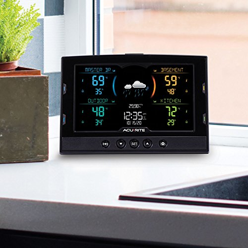 AcuRite 02083M Home Temperature & Humidity Station with 3 Indoor/Outdoor Sensors
