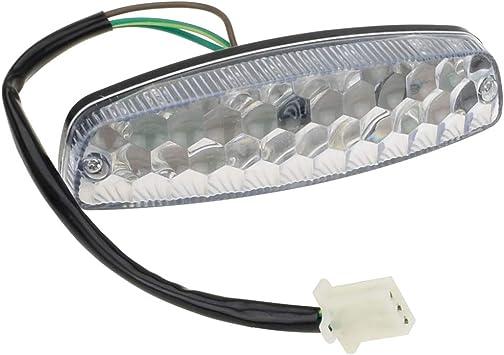 Clear LED Tail Light for ATV 50cc 70cc 90cc 110cc Quad