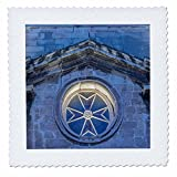 3dRose Danita Delimont - Churches - Malta, Birgu, St. Lawrence Church Detail - 18x18 inch quilt square (qs_277697_7)