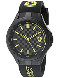 Ferrari Men's 0830280 Pit Crew Analog Display Japanese Quartz Black Watch
