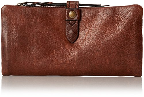 FRYE Josie Wallet,Dark Brown,One Size