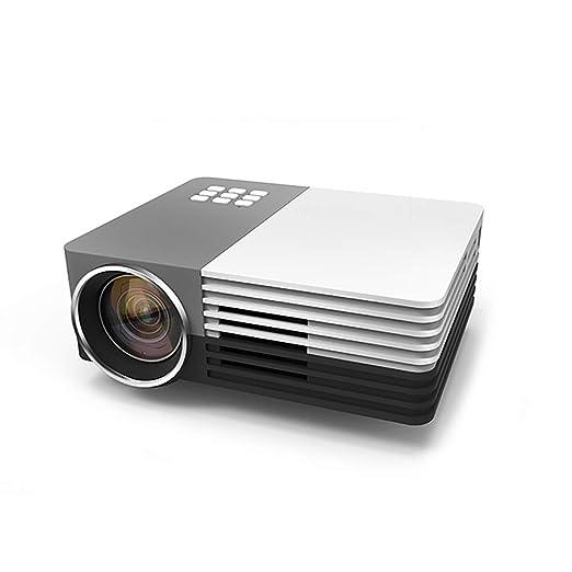 John-L Proyector portátil, Mini proyector LED HD Diseño de Enfoque ...