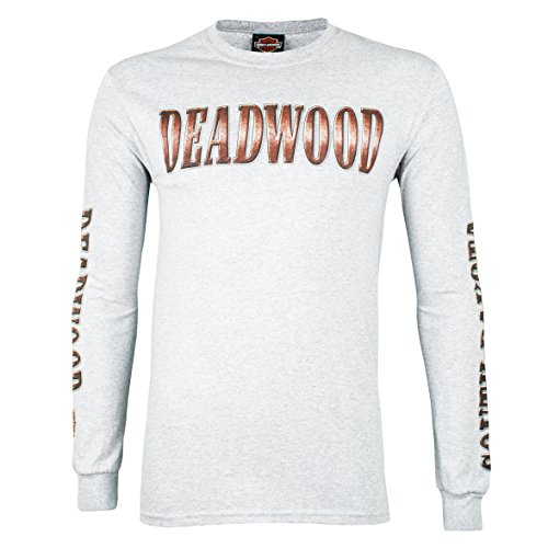 Harley-Davidson Deadwood Bronze Coin Long Sleeve T-Shirt (X-Large, Gray)
