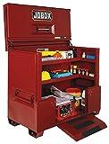 Jobox 74in. Drop-Front Piano Lid Box - Site-Vault Security System, 56.5 Cu. Ft., 74in.W x 30in.D x 50in.H, Model# 1-684990