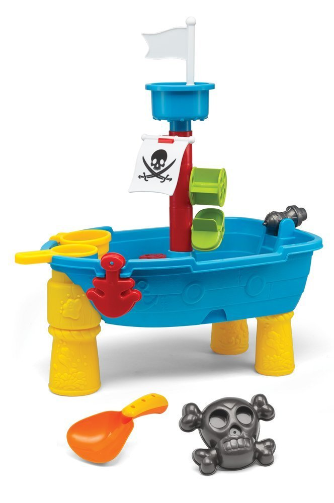 Kidoozie Small Pirate Ship Sand and Water Table Toy. Height 9'' x L 18'' x W 12'' by Kidoozie