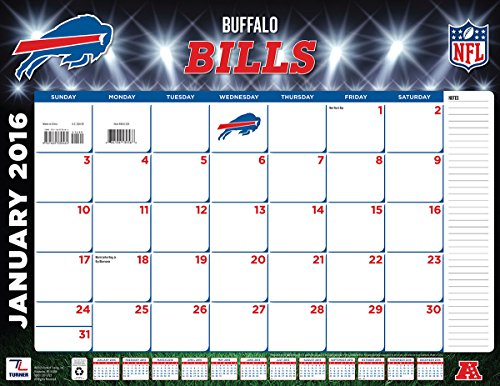 "Turner Buffalo Bills 2016 Desk Calendar, January-December 2016, 22 x 17"" (8061529)"