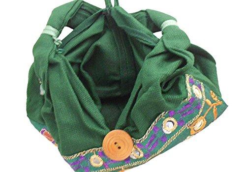 Kalra Creations, Borsa a tracolla donna verde Green