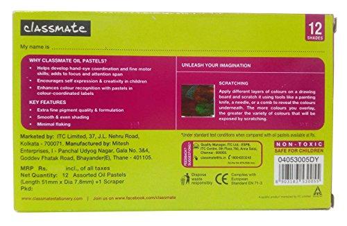 Classmate Junior 12 Shades Oil Pastels - 12 Count: Amazon in