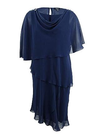 SL Fashions Women\'s Plus Size Tiered Dress & Embellished ...