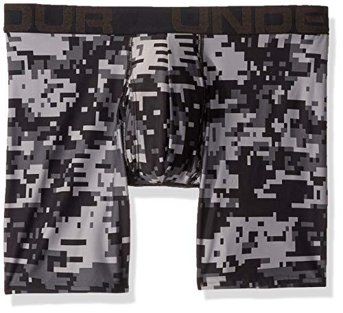 Under Armour Men's Tech 6inch Boxer Brief Boxerjock - 1 Pack, Black (005)/Black, Medium