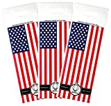 Jet Bag USA FLAG - The Original ABSORBENT Reusable & Protective Bottle Bags - SET OF 3 - MADE IN THE USA
