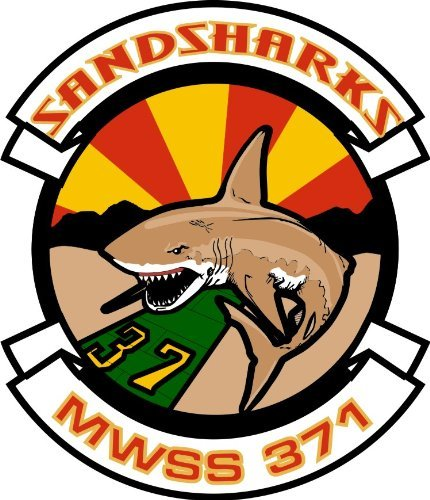 MAGNET US Marine Wing Support Squadron MWSS 371 Sandsharks Decal Magnetic Sticker 5.5