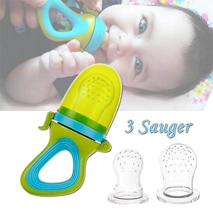 Baby fruta Aspiradora con protección Tapa, 3 Silicona ...