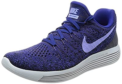 Nike WMNS Lunarepic Low Flyknit 2 Women Running Shoes - 6 Navy/Grey