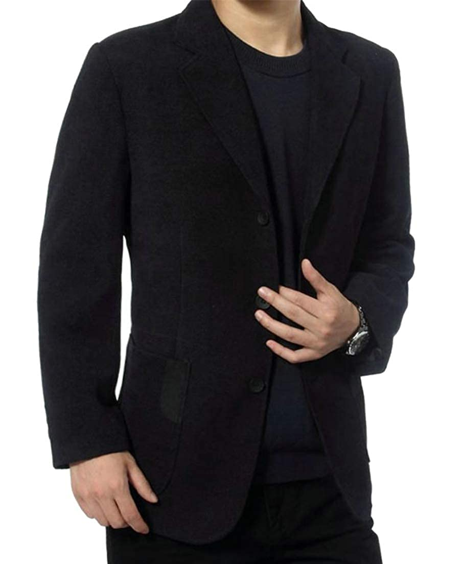 Conffetti Mens Corduroy Outer Tailored Collar Coat Blazer Jacket