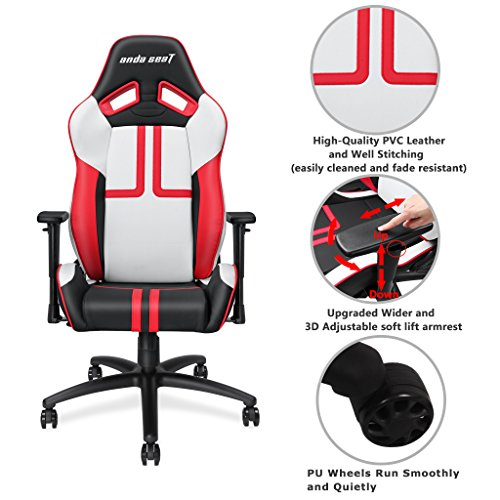 51kuNTcQCuL - Anda-Seat-Ergonomic-Large-Size-High-back-Recliner-Office-Chair-Gaming-Racing-Swivel-Rocker-Tilt-E-sports-Chair-with-ArmrestsBackrestSeat-Adjustment-with-Lumbar-Support-and-Pillow