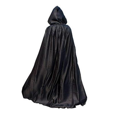 Techrace Disfraz de Halloween Poncho Unisex, Capa de Vampiro con Capucha Larga Articulos Decoracion Bruja Cosplay Terror para Fiesta Halloween para Mujer Hombre Adultos: Productos para mascotas