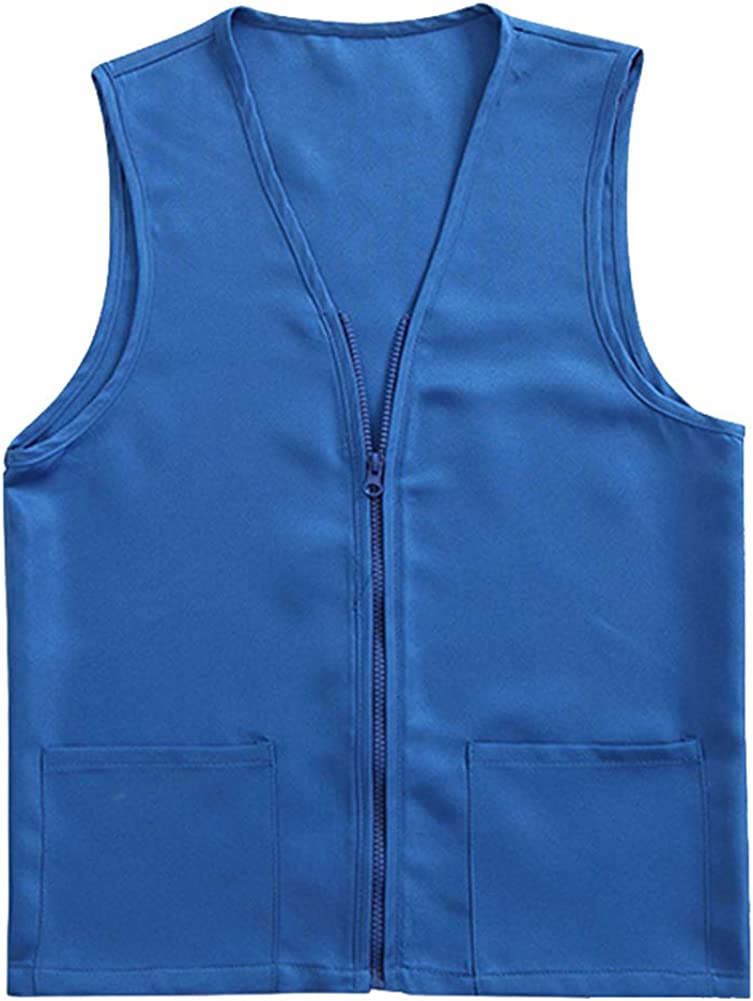 TOPTIE Adult Volunteer Activity Vest Supermarket Uniform Vests Clerk Workwear