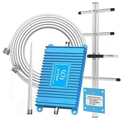 Home Cell Phone Signal Booster for AT&T T-Mobile 4G LTE 700MHz Band 12/17 FDD Mobile Signal Repeater Amplifier Antenna Kits, Improves 4G LTE Data Rates and Supports Volte (Wireless Cell Phone Signal Booster For Home)