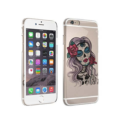 Sugar Skull Skelton Girls Red Rose - iPhone