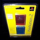 : Playstation 2 Memory Card 8MB 2PK Red/Blue