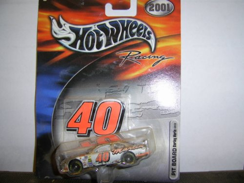Team Hot Wheels Racing 2001 # 40 Pit Board Sterling Marlin 50936