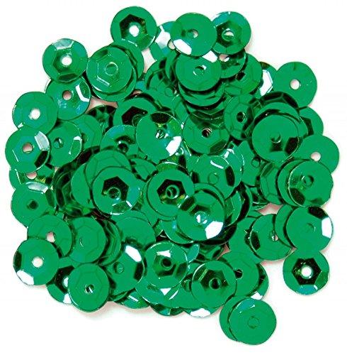 Craft Factoryラウンドカップスパンコールグリーン – 1パック   B0752B1NXH