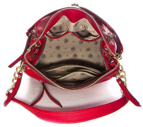 Lock Size Zips Metal Shop Chain Womens Satchel Shoulder and Orange Strap Medium Big Handbag Bag Effect wcqBRXpTR6