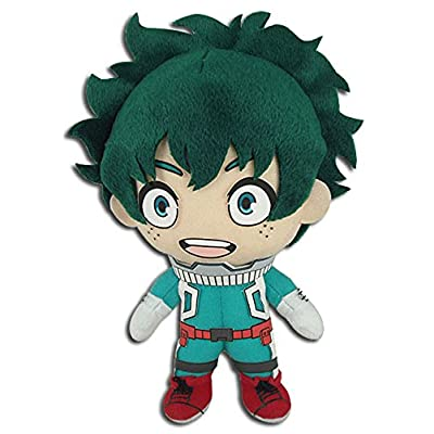 "GE Animation My Hero Academia GE-52235 Izuku Midoriya Hero Costume Plush Toys, Multicolored, 8"": Toys & Games"