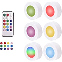 Innoo Tech Night Light RGB LED Puck Lights with Remote Control, Wireless Battery Operated Under Cabinet Lighting with…
