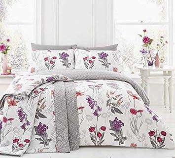 Möbel & Wohnen Wildblumen Blumenmuster Geometrisch Türkis King Size 4 Teile Bettwäsche Set Bettwäschegarnituren