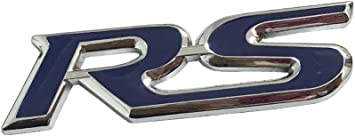 Rs Metal Blue Sticker Vehicle-logo Car Badge Emblem Dian Bin