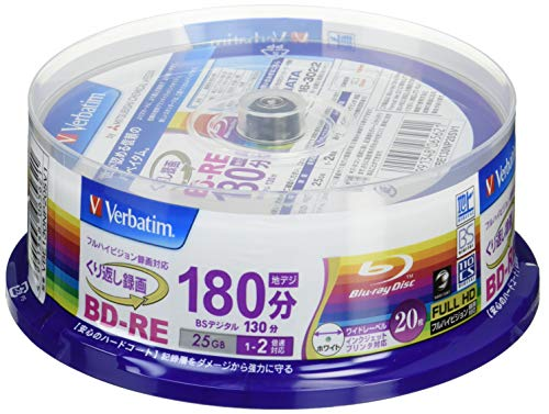 20 Verbatim Bluray Bd-re 25gb 2x Speed Rewritable Blu for sale  Delivered anywhere in USA