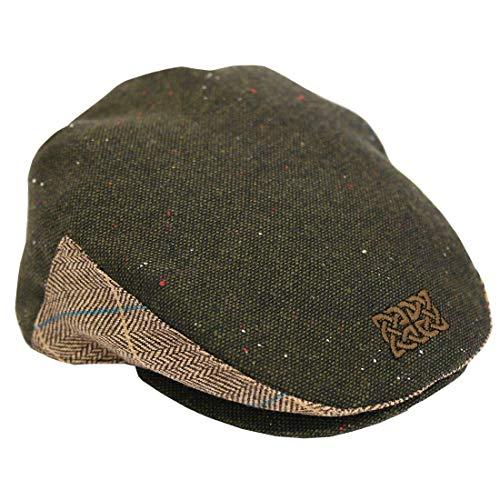 a49cb7e50 Patrick Francis Designs Ltd Green Tweed Celtic Knot Kids Flat Cap (Medium)