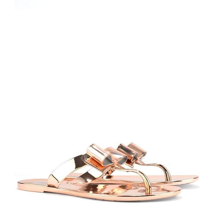 274d46683af MICHAEL Michael Kors Kayden Rose Gold Thong Sandal 38.5EU 5.5UK Rose Gold   Amazon.co.uk  Shoes   Bags
