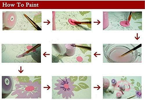 Dipingere con i Numeri Fai da Te per Adulti e Bambini Kit Pittura a Olio Decorazione della casa Bel Regalo (40 * 50 cm-con Cornice)-Paesaggio