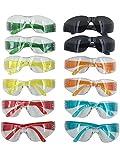 Safety Glasses Anti-Fog OSHA Compliant Protective Eyewear Wraparound Shooting Glasses Translucent Work Glasses Scratch Resistant Eye Protection UV Protectant (12-Pack)