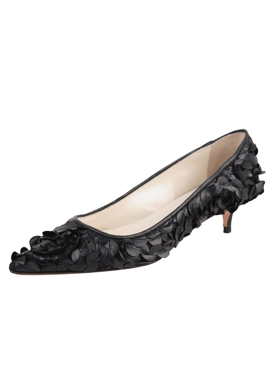 Butter Shoes Womens Charlene Pump B01N27UCPF 7 B(M) US Black Leather