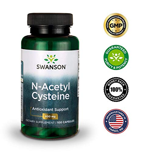51kuPzCFV2L - Swanson NAC N-Acetyl Cysteine Antioxidant Anti-Aging Liver Support & Amino Acids Supplement 600 mg 100 Capsules (3 Pack)