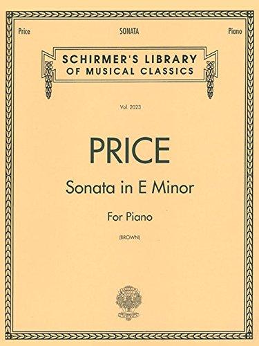 Sonata in E minor: Piano Solo (Schirmer's Library of Musical Classics) by G. Schirmer