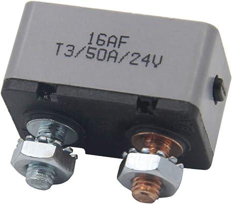 Rkurck 12 24v 50 Amp Atv Manual Resettable Circuit Breaker Metal Stud Bolt Fuse Holder 50a Auto
