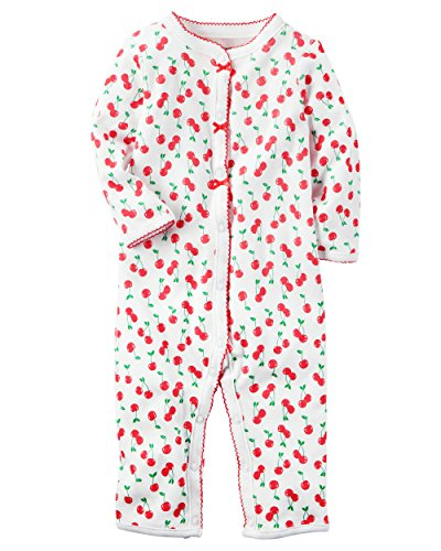 - Carter's Baby Girls' Cotton Snap-Up Footless Sleep & Play (3 Months, Cherries)