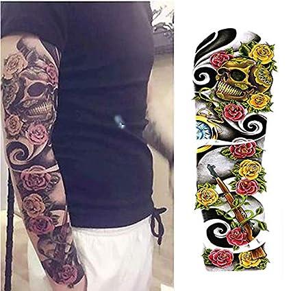 Tatuajes Temporales Adultos Flores Brazo Lleno De Flores Etiqueta ...