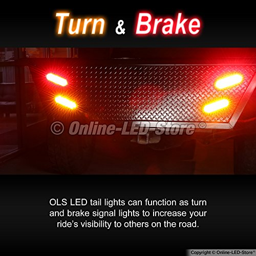 2-Amber-2-RED-6-Oval-LED-Trailer-Tail-Light-Kit-DOT-Certified-Stop-Turn-Brake-Tail-Light