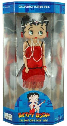 """12"""" Flapper Betty Boop Fashion Doll w/ Doll Stand"""
