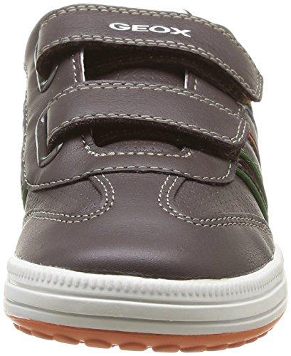 Geox JR VITA A - zapatilla deportiva de cuero niño marrón - Braun (COFFEE/MULTICOLORC6424)